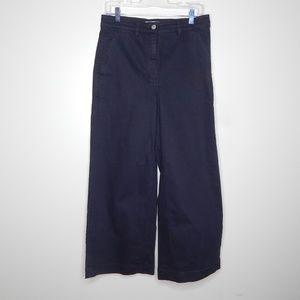 everlane women black pant wide leg SZ 10